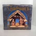 Fontanini Three Figure Starter Natvity Set includes Wooden Stable Creche