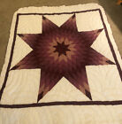 HAND STITCHED Native American Star Quilt Set NEW Mint Condition 1960s 70s