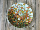 Peggy Karr Fused Glass Flower Plate 11 Signed