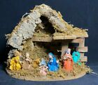 Vintage Nativity Scene with Wooden Stable MADE IN ITALY Santas Surplus GORGEOUS