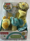 Fisher Price Cuddle N Play Pals Baby Blanket Rattles Lovey Security Zoo Animals