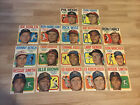 1970 Topps Baseball Card Inserts Posters Vintage Lot Of 17 Bench Robinson Niekro