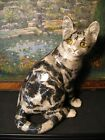Stunning Vintage Winstanley Handpainted Glass eyed Signed Cat Size 4
