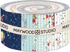 KimberBell Red White  Bloom 40 25 inch Strips Jelly Roll Maywood Studio NEW