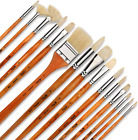 Artify 15 pcs Professional Paint Brush Set Perfect for Oil Painting with a Free