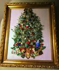 Jewelry ArtVintage to Now Old Fashioned Christmas Tree 8x10 Framed