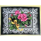 Elsa Williams THE YELLOW RIBBON Crewel Embroidery Kit Joan Marchie Roses