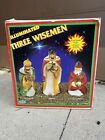 VGC Empire Vintage Blow Mold Christmas Nativity 3 Wise Men with Jewels + Box