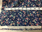 Cotton fabric by the yard sewing quilting Joan Kessler Concord 6 yds blue floral