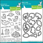 Lawn Fawn YOU AUTUMN KNOW Clear Stamps Only OR Stamp and Die Bundle 2021