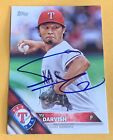 Yu Darvish SIGNED 2016 Topps Series Two Card #418 Texas Rangers Auto