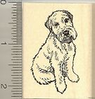 Wheaten Terrier dog rubber stamp G9408 wood mounted
