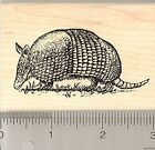 Realistic Armadillo Rubber Stamp Wood Mounted H6904