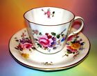 Stunning Royal Crown Derby Floral Tea Cup and Saucer Set