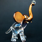 Elephant Circus Figurine Pink Gold Glass and Crystal