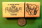 Dental Stamp Combo 2 wood mounted rubber stamps