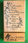 Great is Thy Faithfulness Rubber Stamp Wood Mounted Set of Two