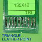 100 Sewing Needle 135x16 Triangle leather assort size