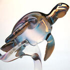 Sea Turtle Loggerhead Figurine Hand Blown Glass Coral
