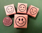 Teachers Rubber Stamp Set  4 Smiley Face Stamps