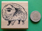 Pomeranian Dog Rubber Stamp Wood Mounted