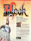 HOOK Peter Pan SPIELBERG FILM Original Promo PINBALL Flyer DATA EAST 1992