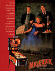 MAVERICK Original PROMO Pinball Flyer DATA EAST 1994 JAMES GARNER Mel Gibson