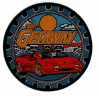 GETAWAY Pinball Promo Plastic Speaker Cutout Coaster WILLIAMS 1992