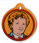 DR WHO #6 Colin BAKER Pinball Promo Plastic Key Chain FOB DOCTOR