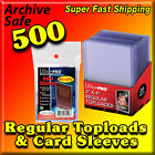 CASE 500 ULTRA PRO 3x4 RIGID TOPLOADERS & 500 SOFT CARD PENNY SLEEVES