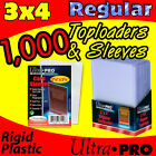 1000 ULTRA PRO 3x4 REGULAR TOPLOADS w CARD SLEEVES