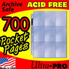 9 POCKET PAGES ULTRA PRO SILVER CARD STORAGE - 700 -