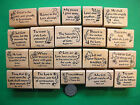 20 Scripture Stamps Wood Mounted Set 2