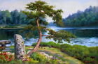 Stretched Orig. Oil Painting