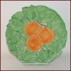 Fitz and Floyd Oranges Salad Plate Embossed Leaves