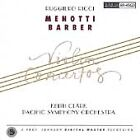 RUGGIERO RICCI Menotti Barber: Violin Concertos Keith Clark Reference NEW CD