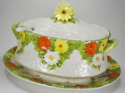 Lefton Daisy Soup Tureen Ladle with sticker 1503 Vintage Ceramic