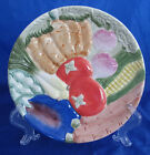 FITZ AND FLOYD VEGETABLE GARDEN SALAD PLATE EMBOSSED mint condition