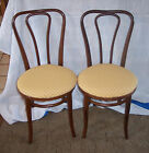 Pair of Oak Bentwood Ice Cream Chairs Sidechairs  (SC154)