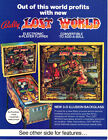 LOST WORLD Original PROMO Pinball Machine Flyer BALLY 1978 Brochure Ad Slick