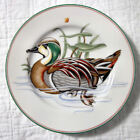 Fitz & Floyd FF Canard Sauvage Duck Plate Collector Salad Green Woodduck Vintage