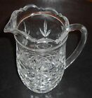 vintage PINEAPPLE VERY THICK GLASS 24oz LEAD CRYSTAL GLASS JUICE PITCHER