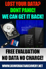 Lost your Data Data Recovery Service No Data No Charge