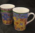 SANGO SWEET SHOPPE COFFEE MUGS CINNAMON SWIRL LEMON SHERBET