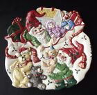 VINTAGE FITZ & FLOYD COLLECTORS SERIES 'HOLIDAY ELF' CANAPE PLATE