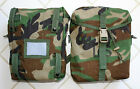 Lot of 2, *NEW* Genuine US Military Molle II Sustainment Pouches Woodland Camo