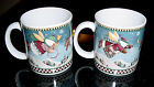 SAKURA DEBBIE MUMM CHRISTMAS SNOW ANGEL VILLAGE COFFEE MUGS / CUPS SET OF 2 EUC