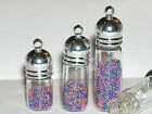 1 Large oil vial potion perfume pendant tube bottle SCREW CAP fillable charm LG