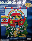 Bucilla CHRISTMAS AT THE ARK Felt Advent Calendar Kit 83985 Sterilized Nativity