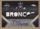 10 2010 Limited Phenoms GOLD Demaryius Thomas 3C Jersey Patch Auto RC #'d 10